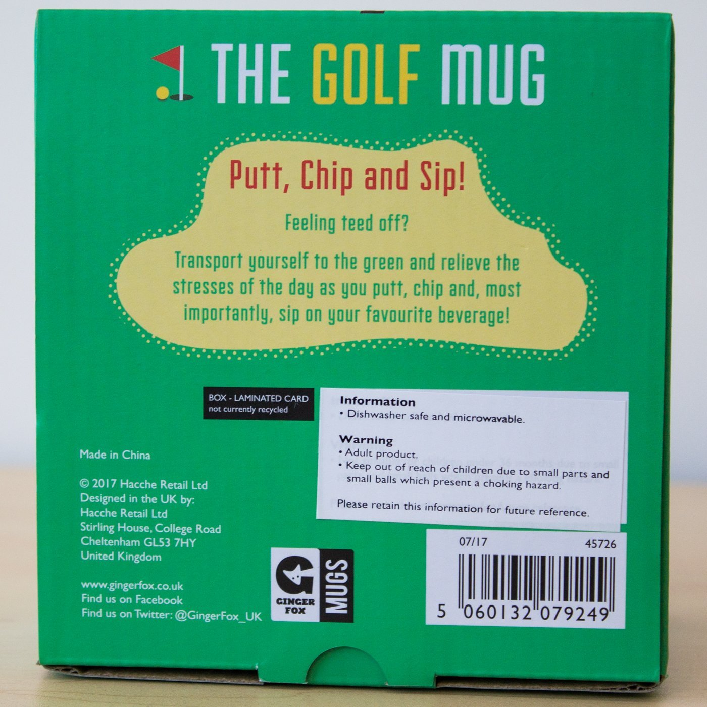Yellow Octopus Golfer's Novelty Putting Mug