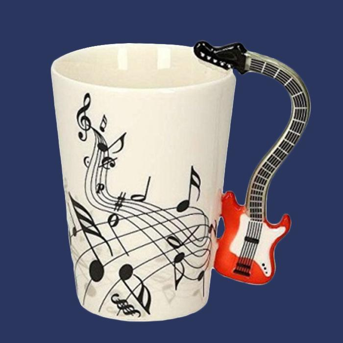 Guitar Rock & Roll Coffee Cup - - Yellow Octopus - Yellow Octopus