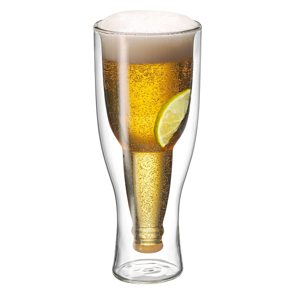 Hopside Down Double Walled Beer Glass