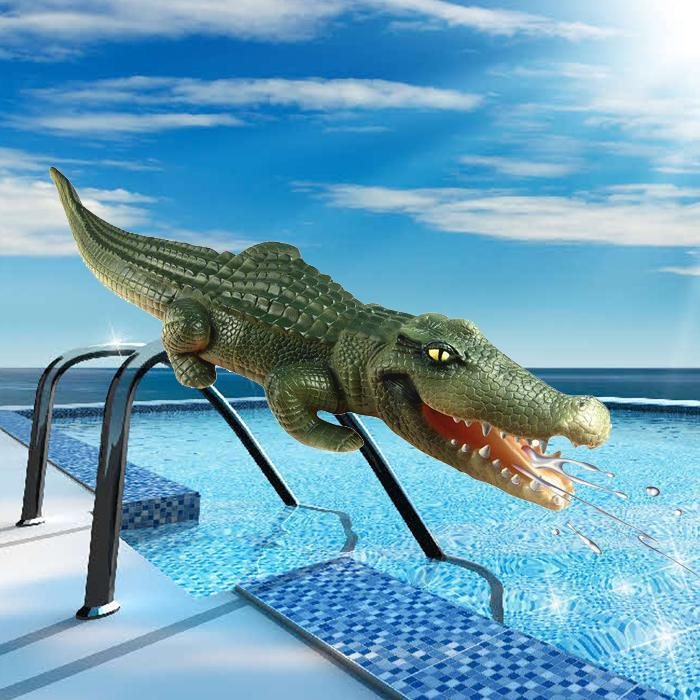 Inflatable Squirting Shark & Croc Pool Toys - Crocodile - Yellow Octopus - Yellow Octopus