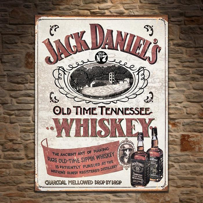 Jack Daniel's Sippin' Whiskey Retro Tin Sign - - Yellow Octopus - Yellow Octopus