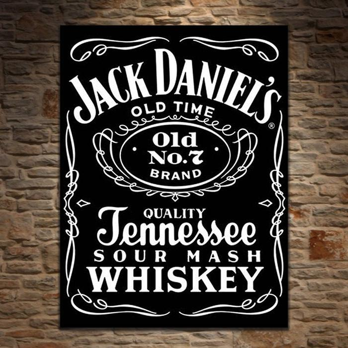 Yellow Octopus Jack Daniel's Tennessee Whiskey Retro Tin Sign
