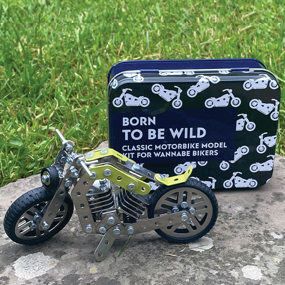 Born to be Wild Motorbike Model in a Tin