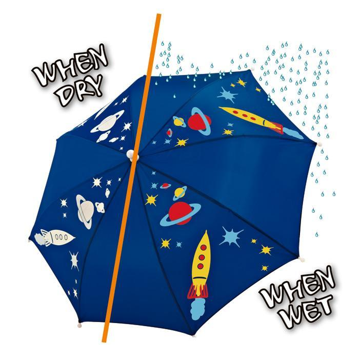 Yellow Octopus Kids Colour Changing Umbrella