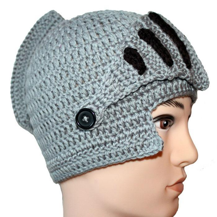 Knight Helmet Knitted Beanie - - Yellow Octopus - Yellow Octopus