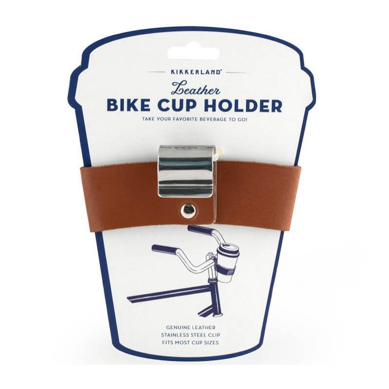 Kikkerland Leather Bike Cup Holder - - Kikkerland - Yellow Octopus
