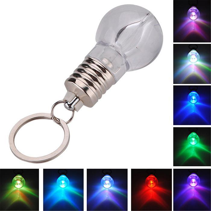 Yellow Octopus Light Bulb LED Keyring
