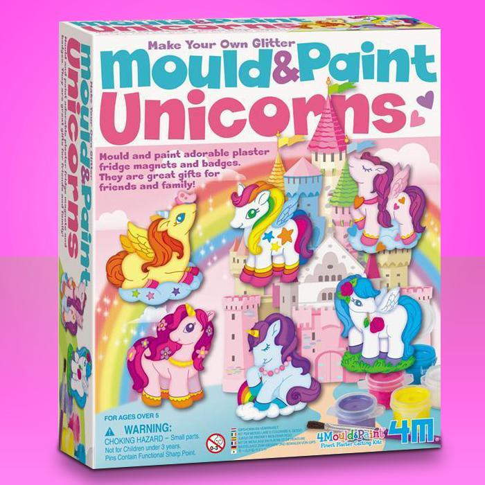 Mould & Paint Magical Unicorns Kit