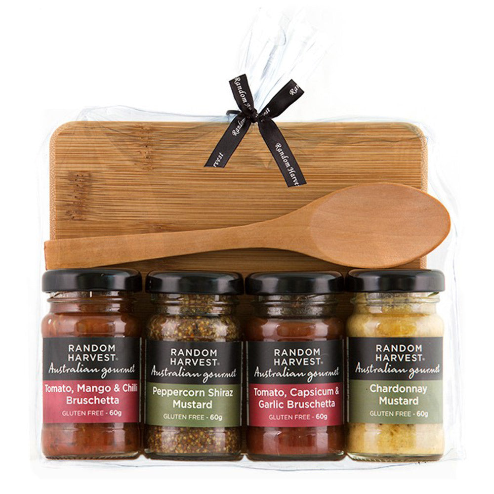 Picnic Cheese Board & Sauces Gift Set