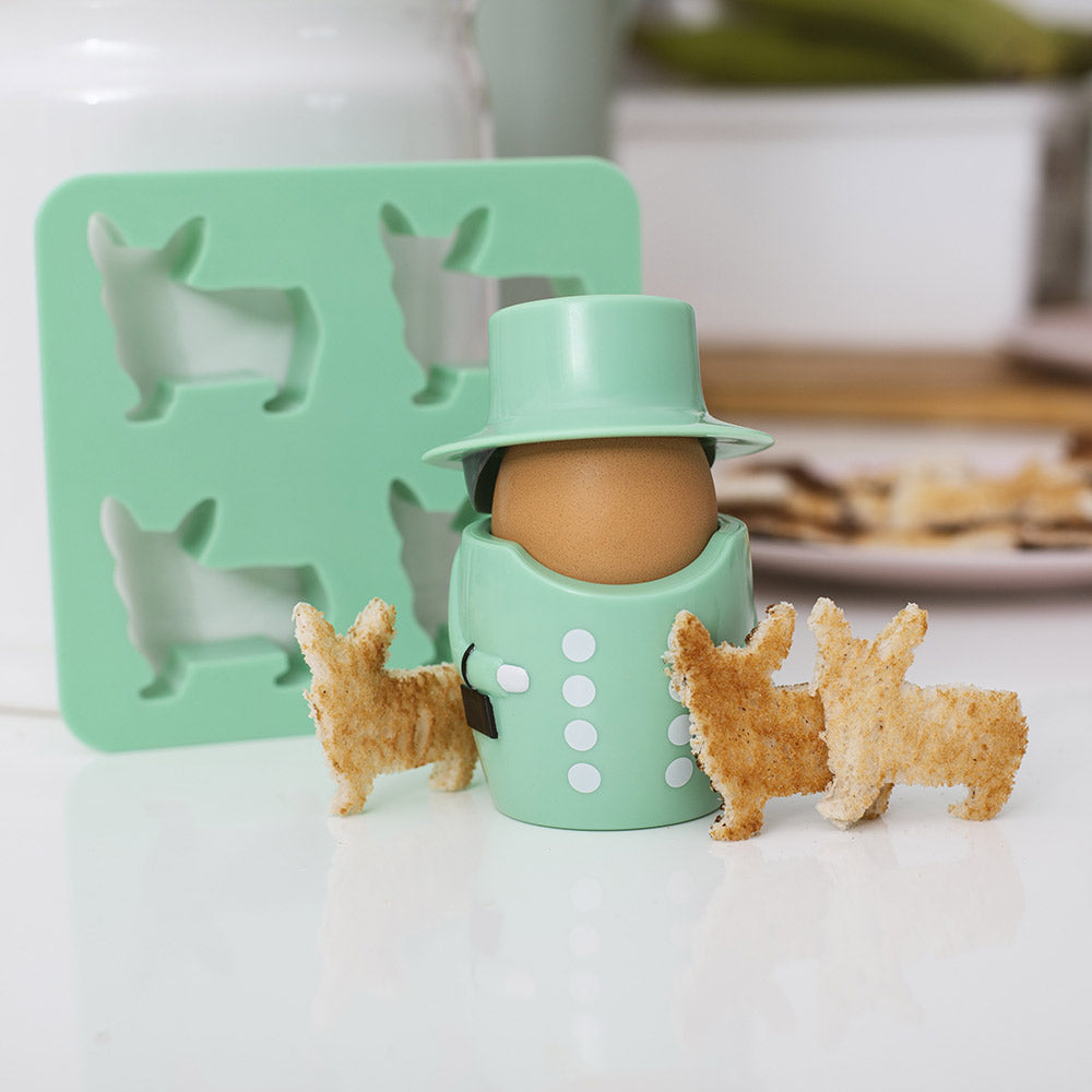 Queen Egg Cup & Toast Cutter