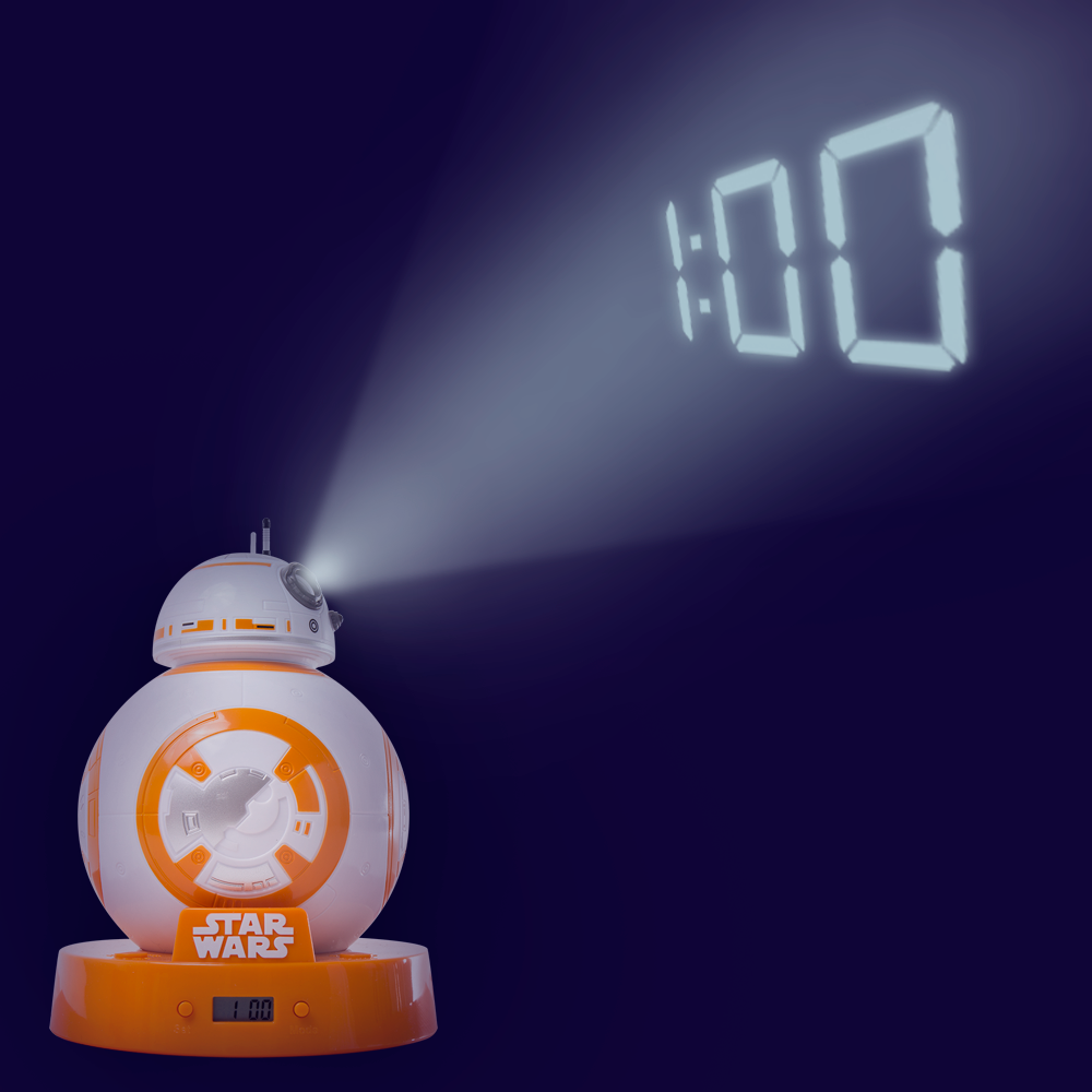 r2d2 projection alarm clock R2d2 always offers a solution to a problem if yours is finding a cool and geeky clock, then this star wars r2d2 projection alarm clock will display one straight on.