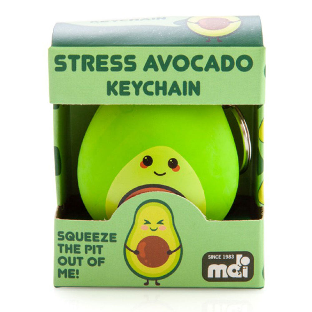 Stress Avocado Keychain