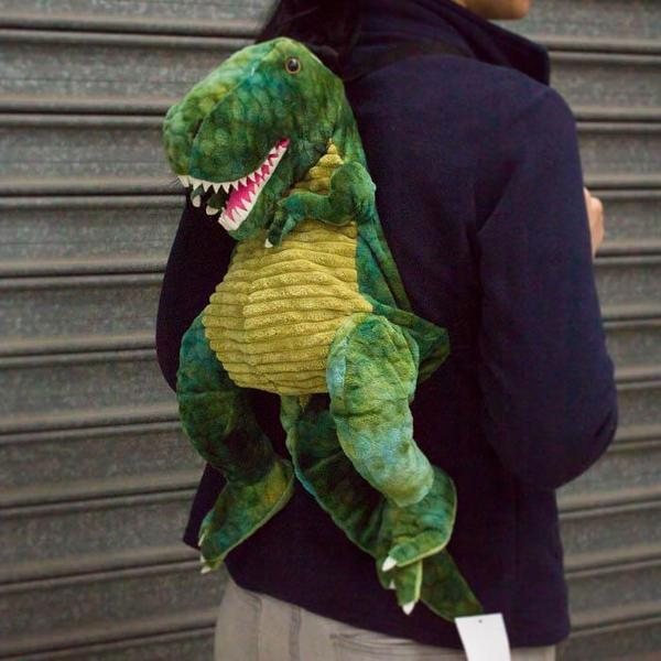 T-Rex Dinosaur Backpack - - Johnco - Yellow Octopus