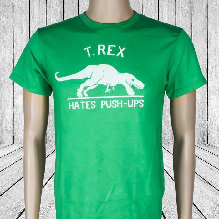 T-Rex Hates Push-Ups T-Shirt - Extra Large - Yellow Octopus - Yellow Octopus