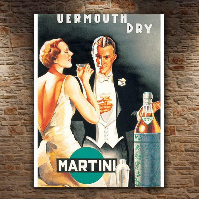 Yellow Octopus Vermuth Dry Martini Vintage Art Print 40 x 50cm
