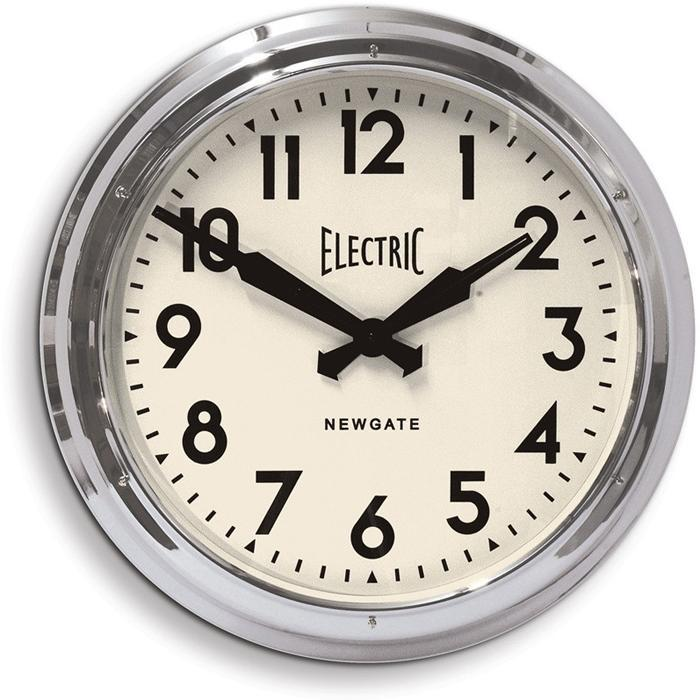 Yellow Octopus Vintage Electric Station Clock 60cm | Newgate Chrome