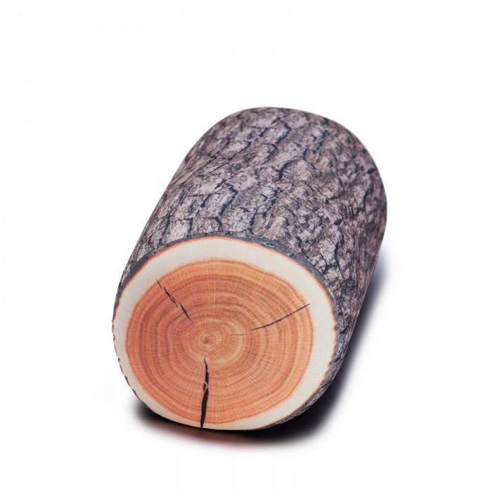 wood log pillow tree trunk cushion nature forest wooden yellow