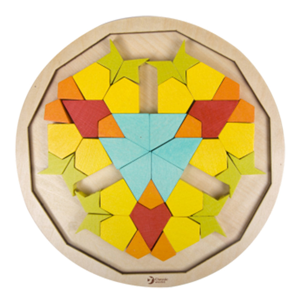 Wooden Mandala Puzzle Blocks