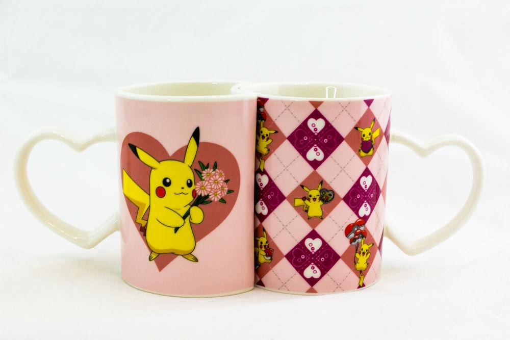 Pokémon Pikachu Set of 2 Heart Mugs