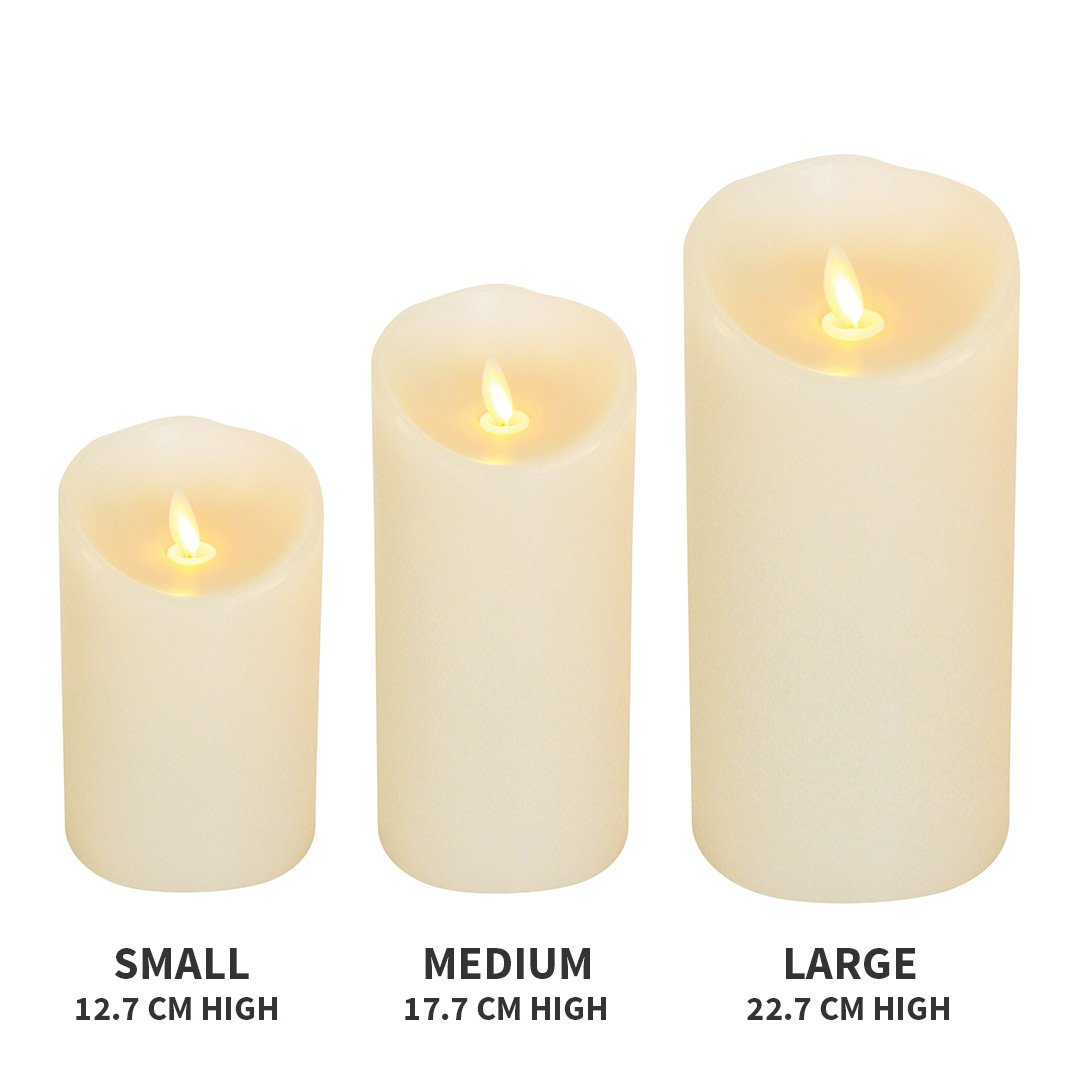 Luminara Flickering Effect Real Wax LED Flameless Candles