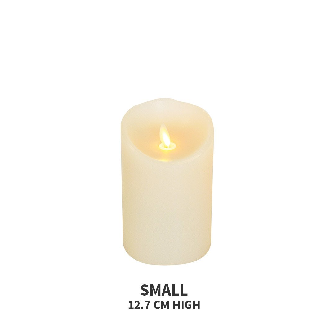 Luminara Flickering Effect Real Wax LED Flameless Candles - Small 12.7 cms high - Luminara - Yellow Octopus