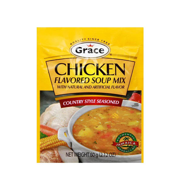 Grace & I Soup Mix, Chicken Flavored, Country Style Seasoned 2.12 oz