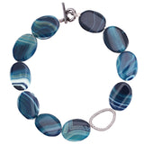 AGATE NECKLACE-BLUE