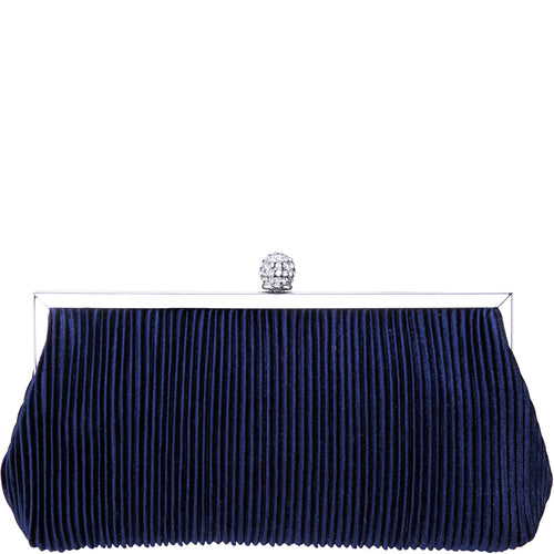 ANEKA-NAVY PLEATED VELVET