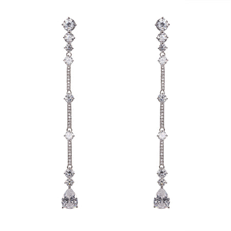 CATANIA EARRING-WHITE GOLD
