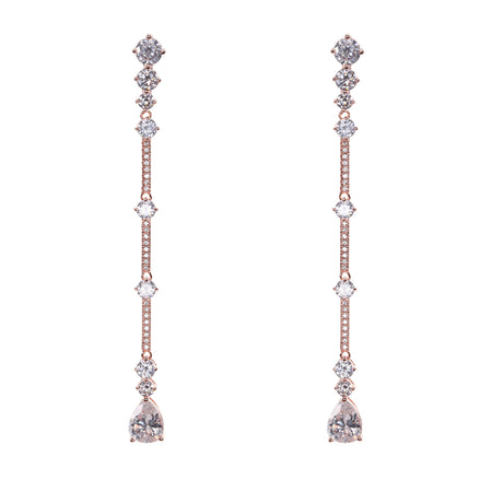 NIRVANA EARRING-RHODIUM WHITE