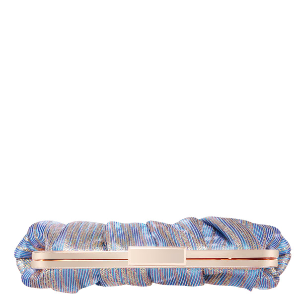 ASHLYN-METALLIC BLUE STRIPE