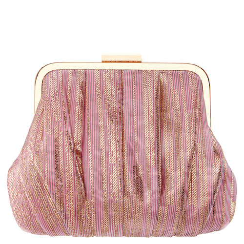 ASHLYN-PINK METALLIC STRIPE
