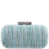 BEDFORD-AQUA MULTI SHINY STRIPE
