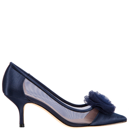 CATHEY-NEW NAVY/CLEAR-SATIN