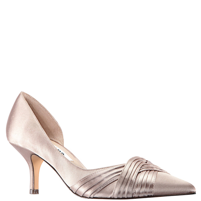 BLAKELY-TAUPE SATIN