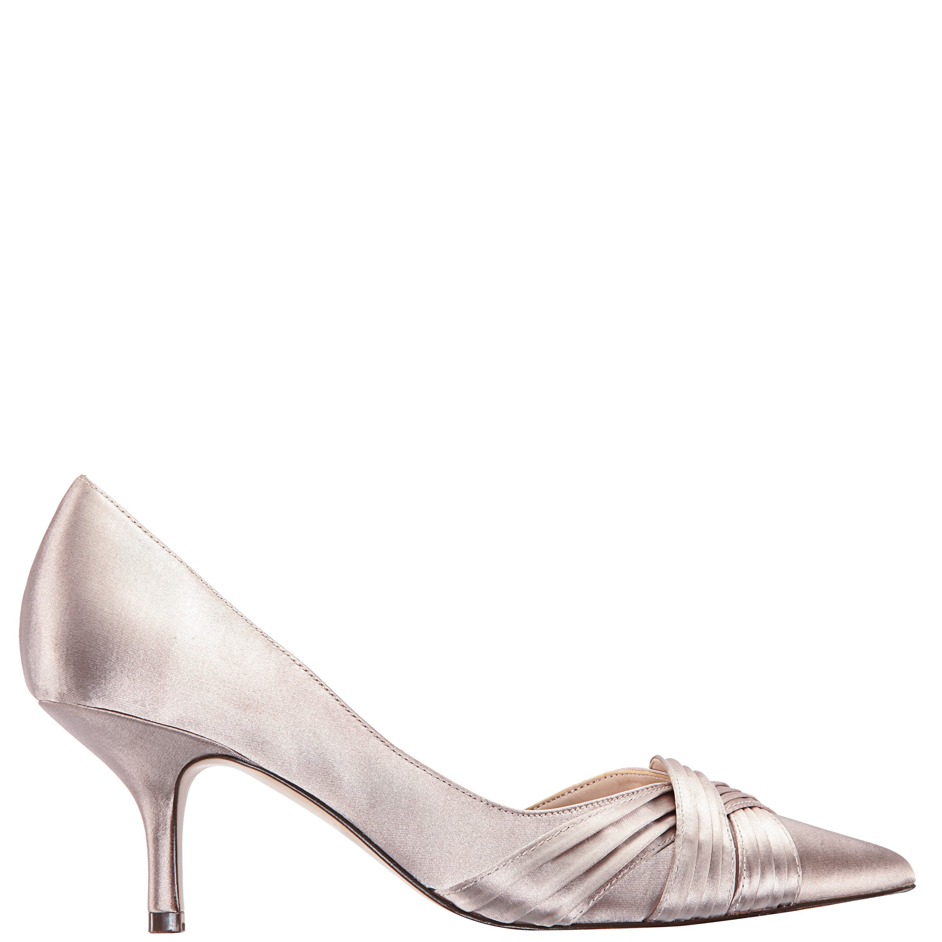 BLAKELY-TAUPE SATIN - TAUPE