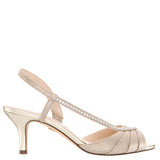 CABELL-TAUPE REFLECTIVE SUEDETTE