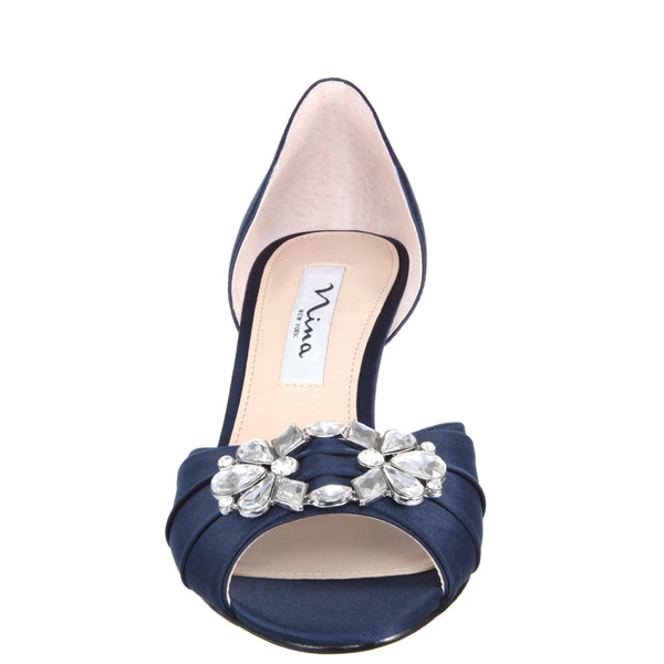 CHARISA-NEW NAVY SATIN