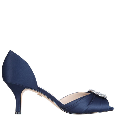 DEEDRA-NEW NAVY SATIN