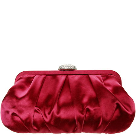 VENIZA-RED CRYSTAL SATIN