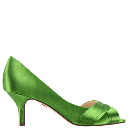 NIDIAH-GRASS GREEN-CRYSTAL SATIN