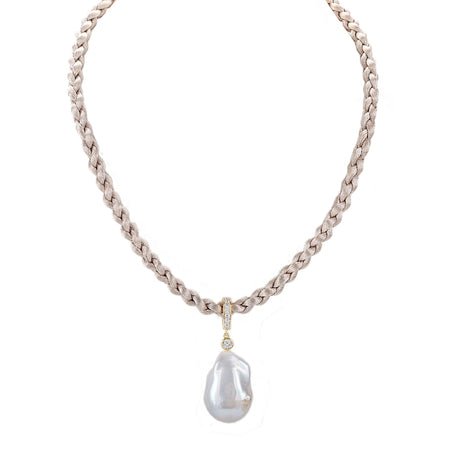 CATANIA NECKLACE-WHITE GOLD