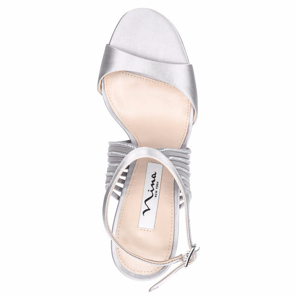 DAMARIS-NEW SILVER SATIN