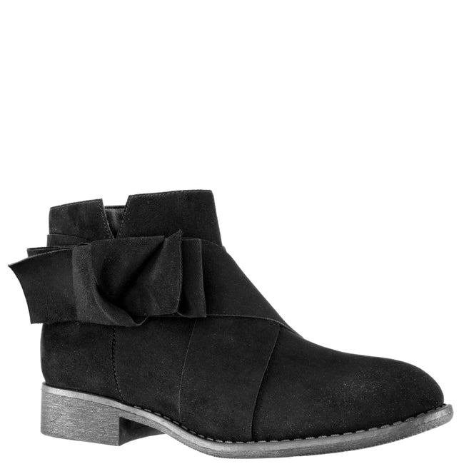 DOLLEE-BLACK MICROSUEDE