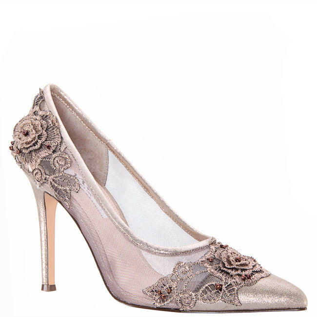DONELA-TAUPE REFLECTIVE SUEDETTE