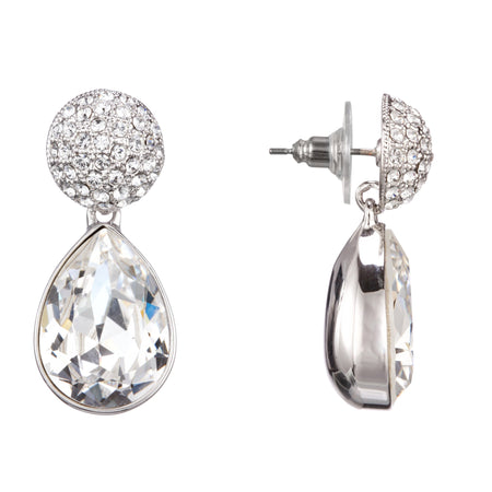 ZAYNA DROP EARRING-RHODIUM/WHITE