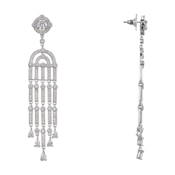 ADELISE CHANDELIER EARRING-RHODIUM