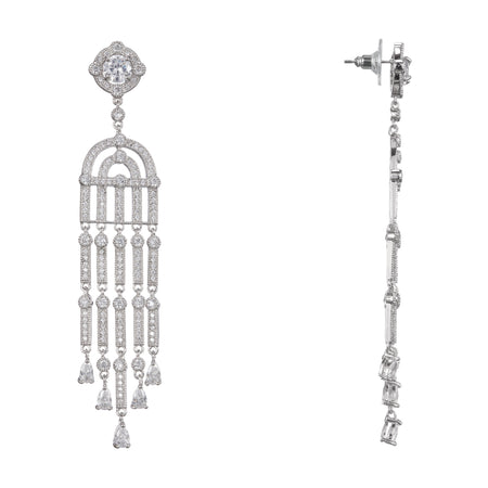 ABRI DROP EARRING-RHODIUM/WHITE