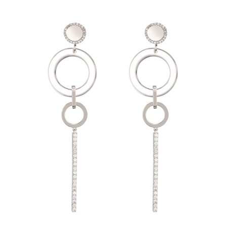 ETHEREAL CLIP EARRINGS-RHODIUM/WHITE