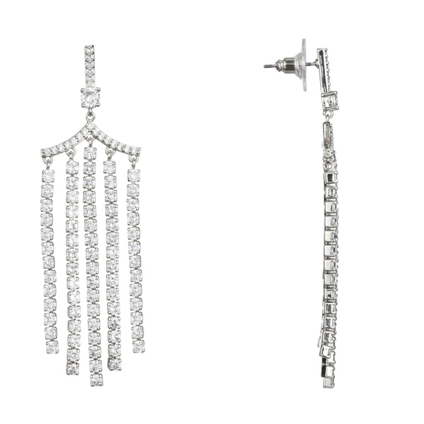 ALLIE EARRING-RHODIUM